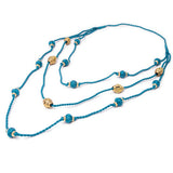 Blue Gold Tone Necklace