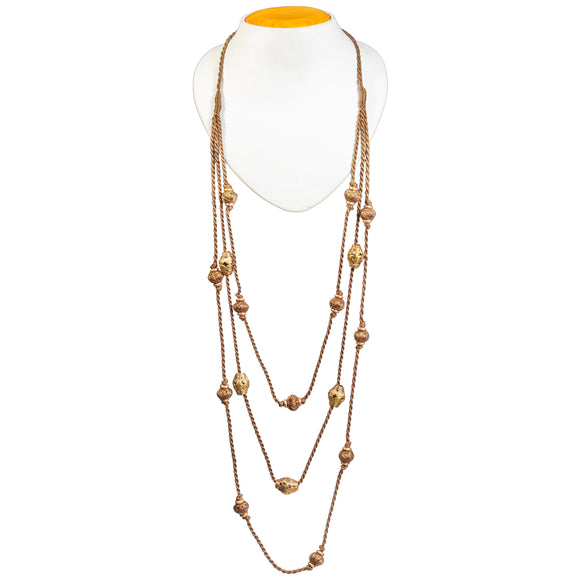 Brown Gold Tone Necklace