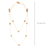 Gold Tone Necklace with Corals
