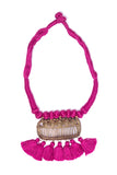 Pink Gold Tone Dhokra Necklace D14b