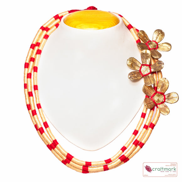 Brass Thread rincess Necklace D34b