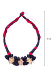 Brass Thread Choker Necklace D67a