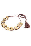 Brass Thread Choker Necklace D84