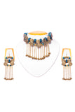 Brass Thread Collar Necklace D87