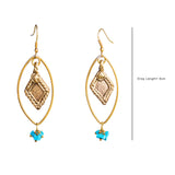 Eye Gold Tone Earrings DEr25b