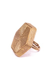 Dokra Honeycomb Finger Ring