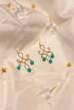 Miharu Brass Turquoise Dangler Earrings