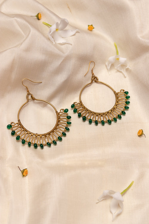 Circular Wire Wrap Earrings