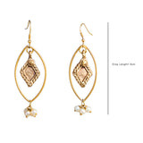 Eye Gold Tone Earrings