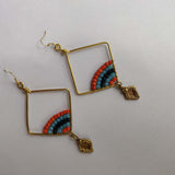 Multicolored Barfi Earrings