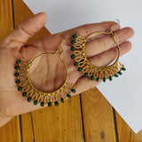 Circular Wire Wrap Earrings EB14