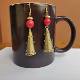 Gold Tone Cone Earrings