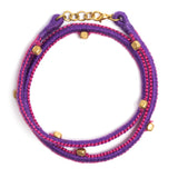 Purple and Pink Thread Adjustable Bracelet TB10