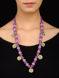 Purple Gold Tone Necklace TR02