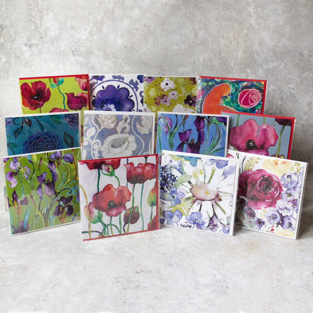 Pack of Twelve greeting cards