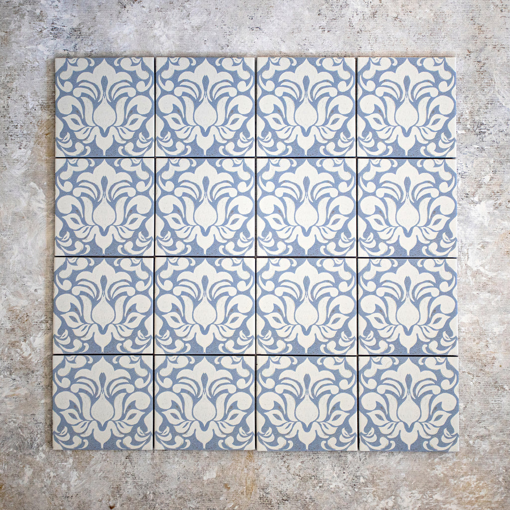 Damask Blue Tile