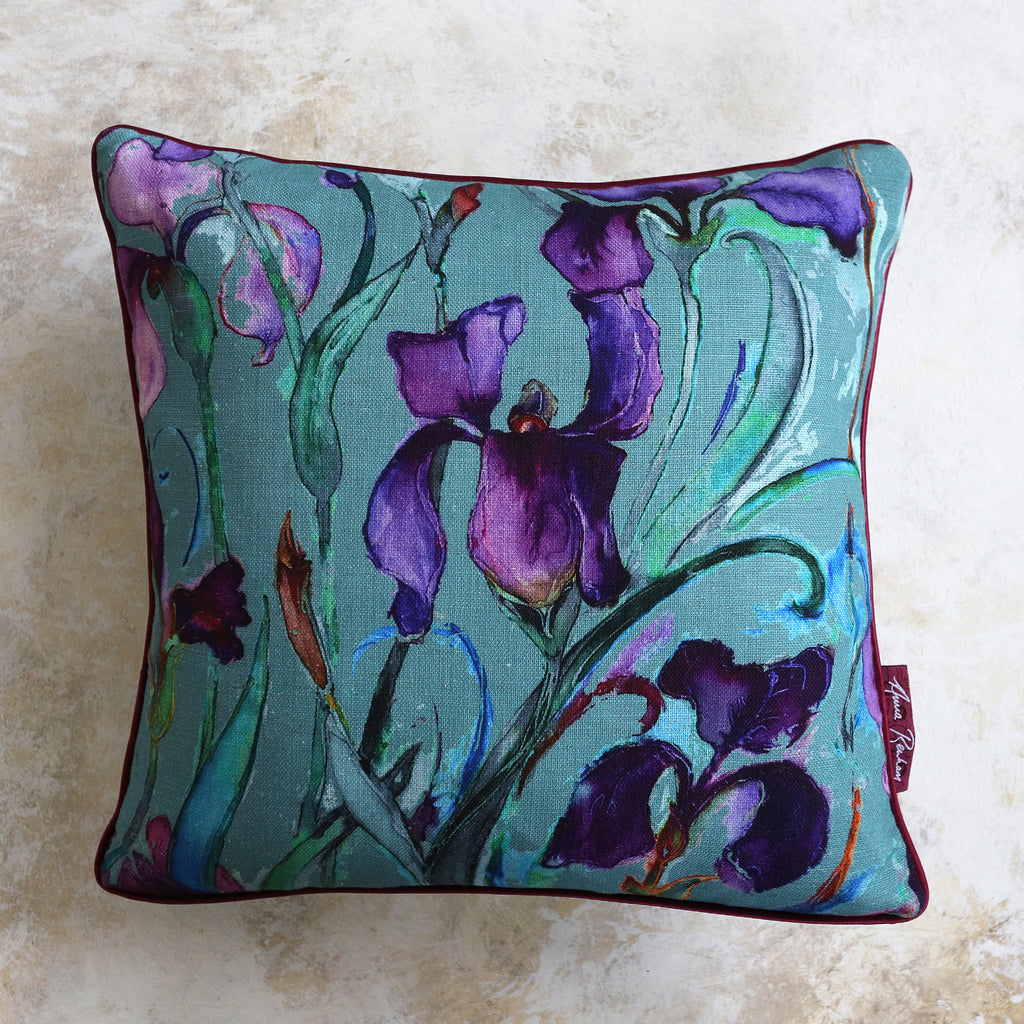 Iris Sugar-bag Blue Cushion