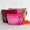 Pink Abstract Velvet Bag