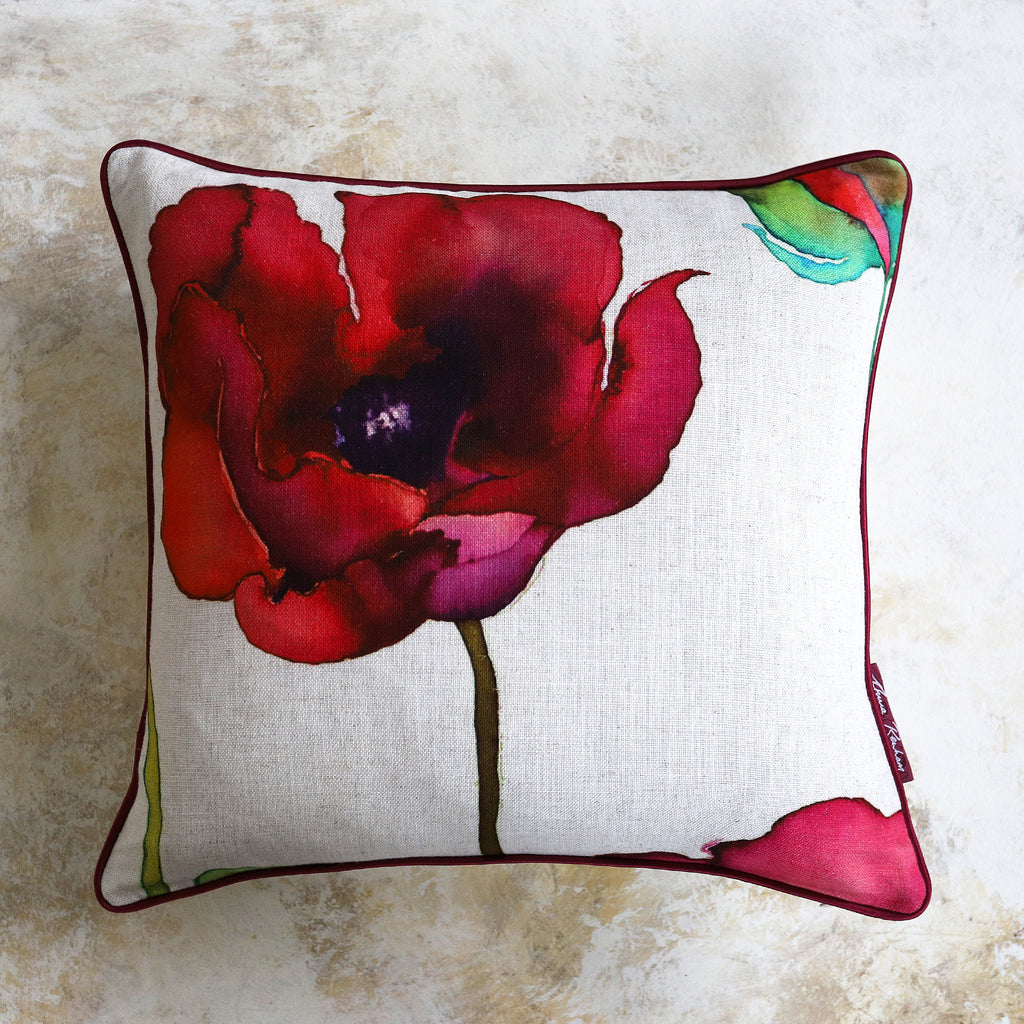 Poppy Ivory Cushion