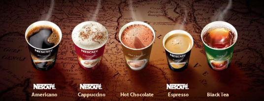 Nestlé coffees and hot beverages