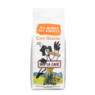 Café en grains 70/30 (70% Arabica 30% Robusta) - 1kg