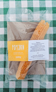 Popcorn- Corn in the cob.