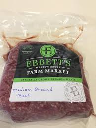 Ebbetts Medium Ground Beef Package (1LB approx).
