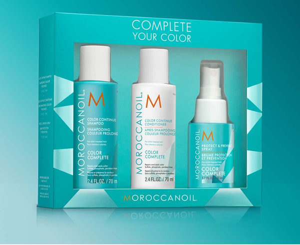 Moroccanoil Complete Your Color Set (shampoo 70ml, conditioner 70ml, spray 50ml)