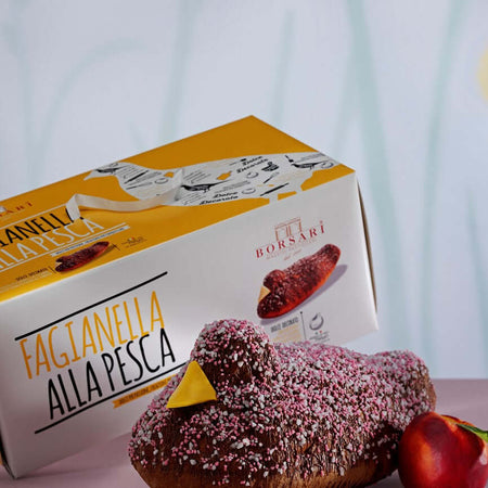 Colomba Fagianella filled with Peach cream - 750g BORSARI