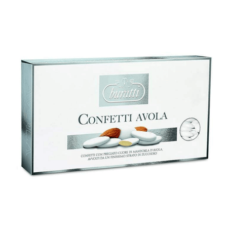 Avola Sugared Almond Silver - 1kg box BURATTI