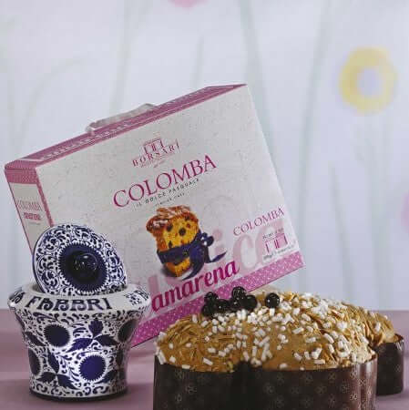 Colomba with Fabbri Candied Cherries - 1Kg BORSARI