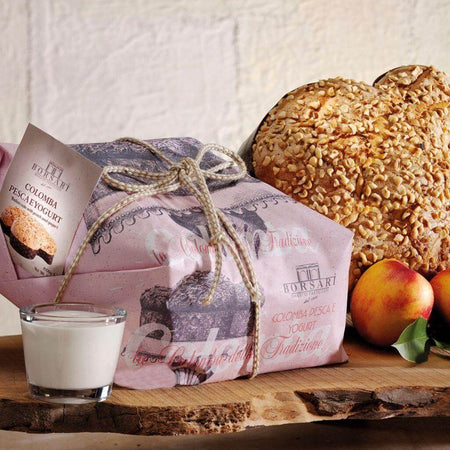 Colomba Peach and Yogurt- 1Kg BORSARI - caramellina.com