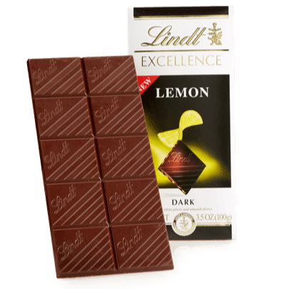 Excellence Lemon & Ginger bar - 100g LINDT