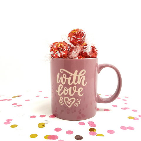 Lillac Cup with Milk Chocolate Lindor - Gift with Love