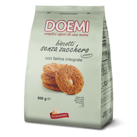 Wholemeal Cookies Sugar Free - 500g DOEMI