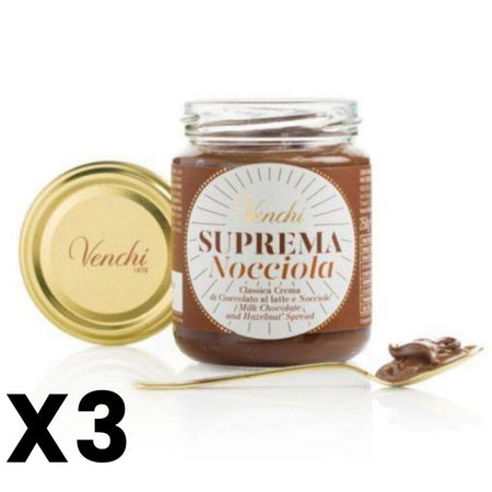 Suprema Hazelnut Chocolate Spread - 250g jar VENCHI