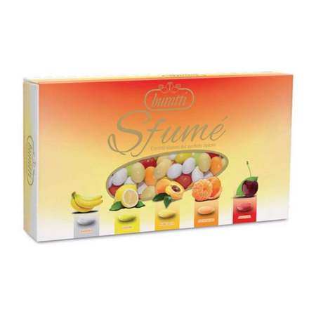Tenerezze Sugared Almond Orange Sfumè - 1kg box BURATTI