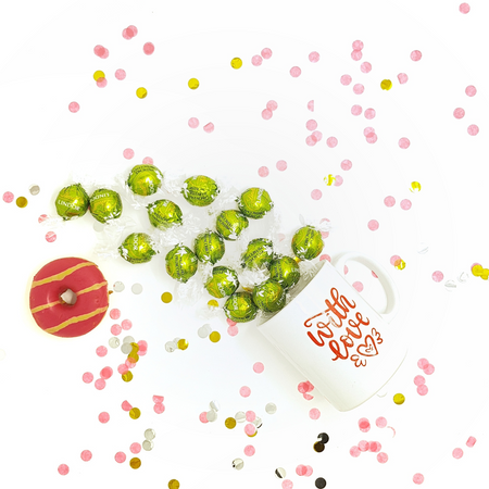White Cup with Pistachio Lindor - Gift with Love