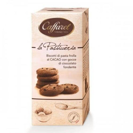 Cocoa cookies with dark chocolate drops - 200g pack CAFFAREL - caramellina.com