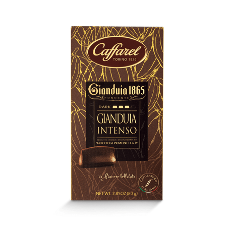CAFFAREL chocolate Gianduia Intenso 72% Dark Chocolate - 80g bar CAFFAREL