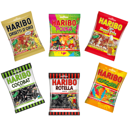 caramellina.com Bundle Haribo 6 packs - Gummy and Licorice Candies - HARIBO