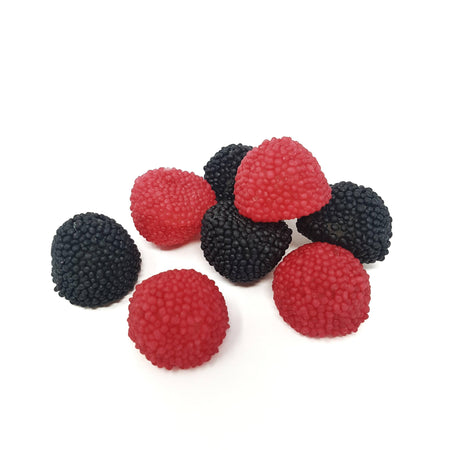 FINI candy Jelly Berries - Blackberries and Raspberries Gummy Candies - 150g pack FINI
