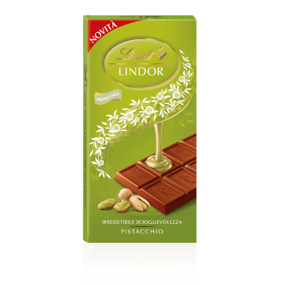 LINDT chocolate Lindor Pistachio Tablet - 100g pack of 6 LINDT