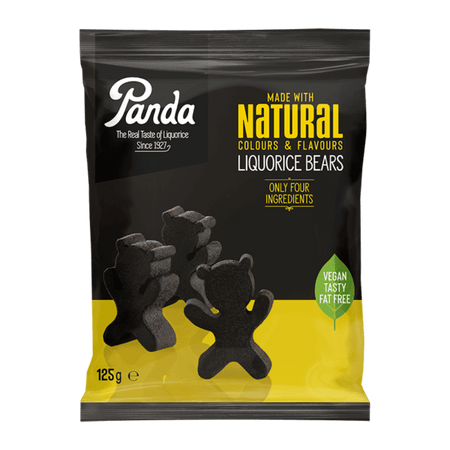 ORKLA - PANDA candy All Natural Liquorice Bears - 125g pack PANDA