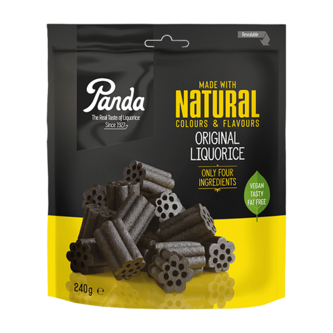 ORKLA - PANDA candy Copia del All Natural Original Liquorice - 240g pack PANDA
