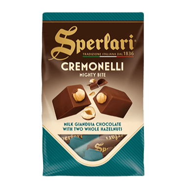 Cremonelli - Milk Gianduia Chocolate with two whole hazelnuts - 125g SPERLARI