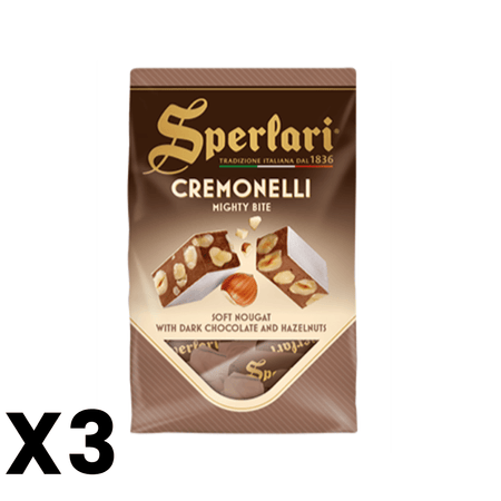 Cremonelli - Soft Nougat with dark chocolate and Hazelnuts - 125g SPERLARI