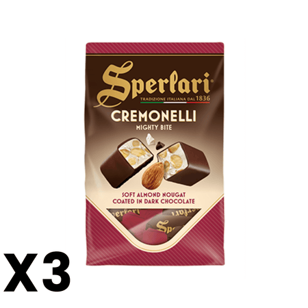 Cremonelli - Soft Almond Nougat coated in dark chocolate - 125g SPERLARI