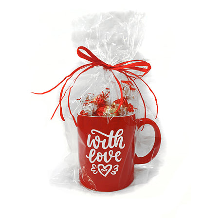 Red Cup with Milk Dubledone chocolates - Gift with Love