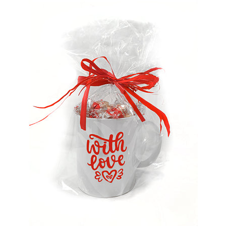 White Cup with Milk Dubledone chocolates - Gift with Love